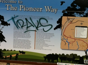Heritage Trail signs vandalized